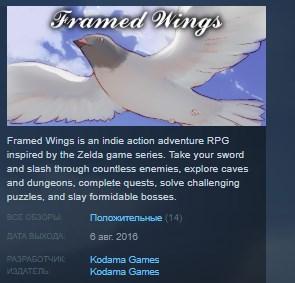 Framed Wings STEAM KEY REGION FREE GLOBAL 2019