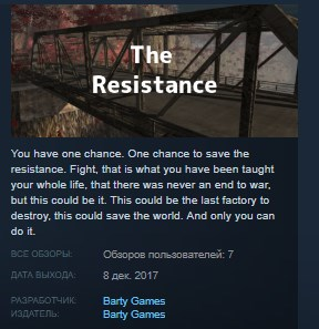 The Resistance STEAM KEY REGION FREE GLOBAL