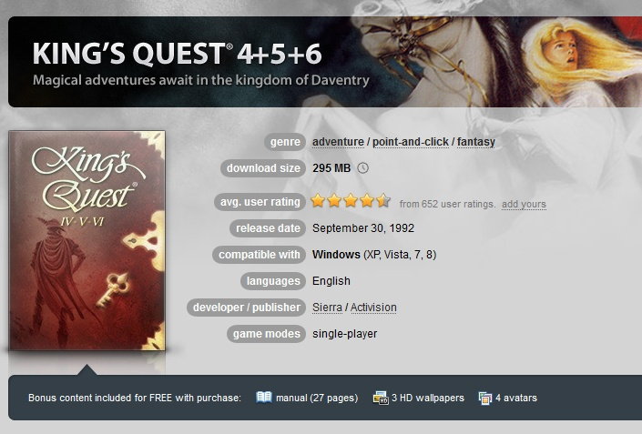 King´s Quest 4+5+6 ( GOG.COM Key )