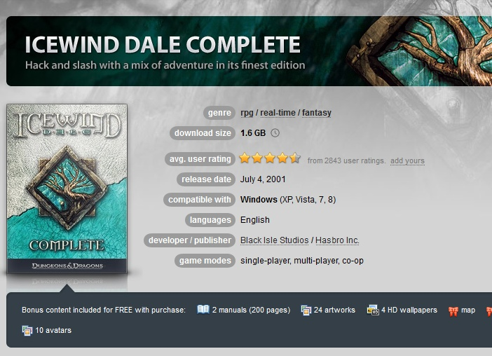 Icewind Dale Complete ( GOG.COM Key )