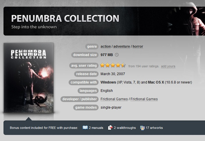 Penumbra Collection ( GOG.COM Key )