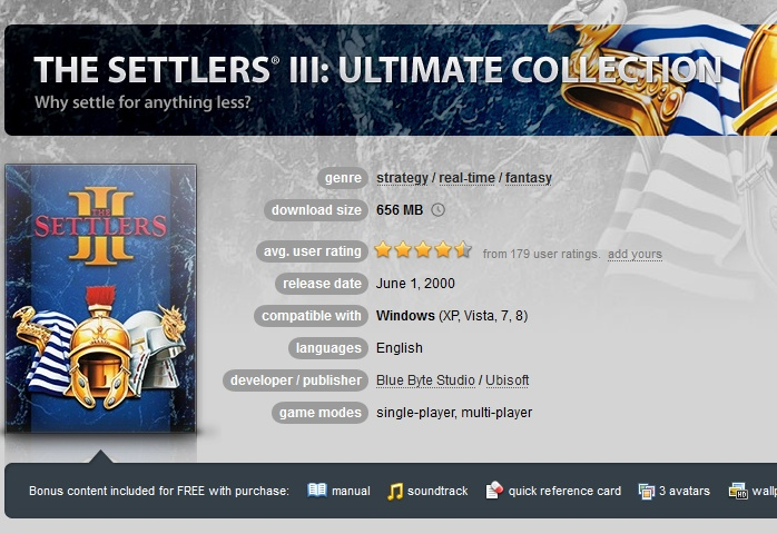 The Settlers 3: Ultimate Collection ( GOG.COM Key )