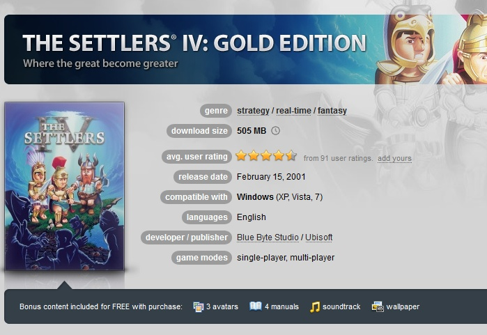 The Settlers 4: Gold Edition ( GOG.COM Key )