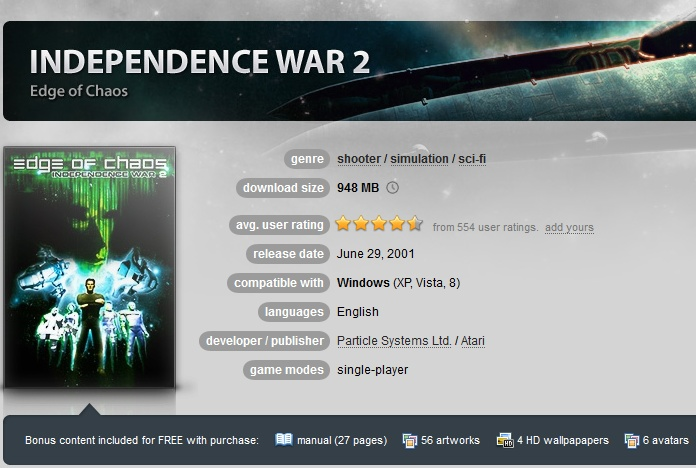 Independence War 2: Edge of Chaos  ( GOG.COM Key )