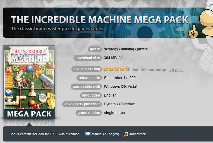 The Incredible Machine Mega Pack ( GOG.COM Key )