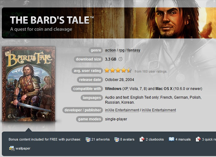 The Bard´s Tale ( GOG.COM Key )