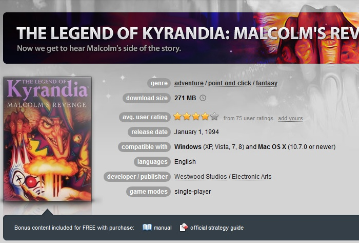 The Legend of Kyrandia: Malcolm´s Revenge (GOG.COM Key)