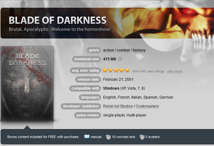 Blade of Darkness ( GOG.COM Key )