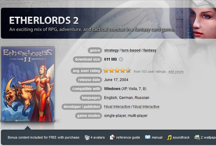 Etherlords 2 ( GOG.COM Key )