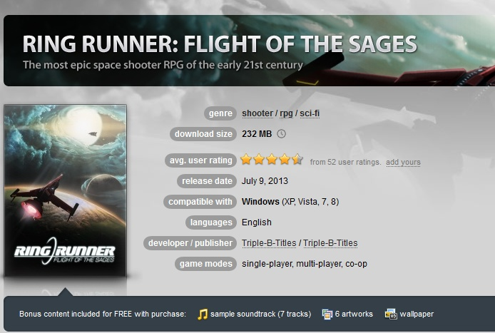 Ring Runner: Flight of the Sages ( GOG.COM Key )
