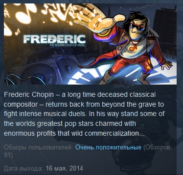 Frederic: Resurrection of Music (STEAM KEY REGION FREE)