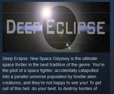 Deep Eclipse: New Space Odyssey ( STEAM / Region Free )