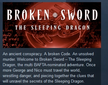 Broken Sword 3: The Sleeping Dragon STEAM KEY GLOBAL