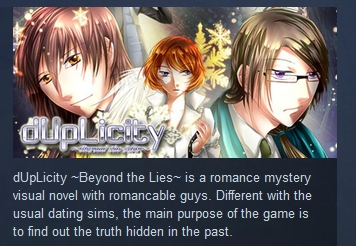 dUpLicity ~Beyond the Lies~ ( Steam Key / Region Free )