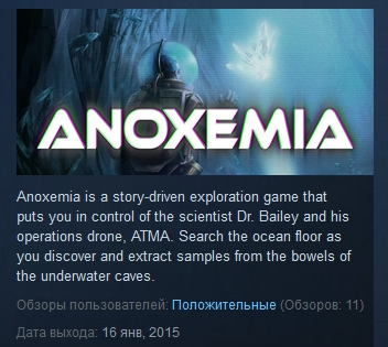 Anoxemia ( Steam Key / Region Free ) GLOBAL ROW