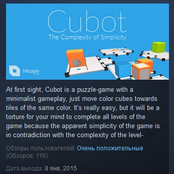 Cubot ( Steam Key / Region Free ) GLOBAL ROW