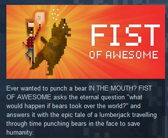 FIST OF AWESOME ( Steam Key / Region Free )