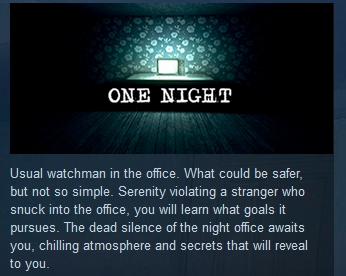 One Night  ( Steam Key / Region Free )