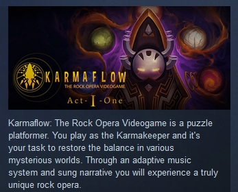 Karmaflow The Rock Opera Videogame STEAM KEY GLOBAL ROW