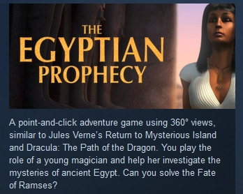 The Egyptian Prophecy: The Fate of Ramses STEAM KEY ROW