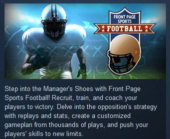Front Page Sports Football  ( Steam Key / Region Free )