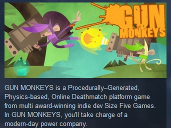 Gun Monkeys  ( Steam Key / Region Free ) GLOBAL ROW