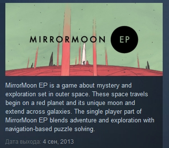 MirrorMoon EP ( Steam Key / Region Free ) GLOBAL ROW