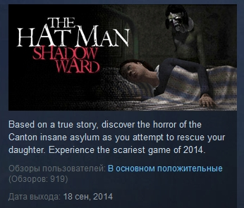 The Hat Man: Shadow Ward ( STEAM GIFT RU + CIS )