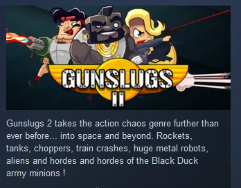 Gunslugs 2 ( Steam Key / Region Free )