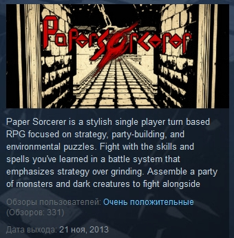 Paper Sorcerer ( Steam Key / Region Free )