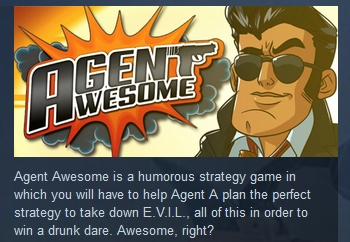 Agent Awesome ( Steam Key / Region Free ) GLOBAL ROW