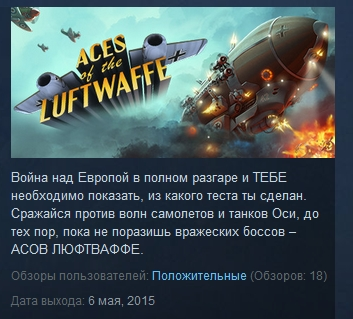 Aces of the Luftwaffe  ( Steam Key / Region Free )