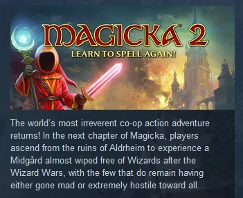 Magicka 2  STEAM KEY RU+CIS LICENSE  💎