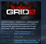 GRID 2 STEAM KEY REGION FREE GLOBAL