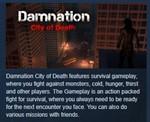 Damnation City of Death STEAM KEY REGION FREE GLOBAL