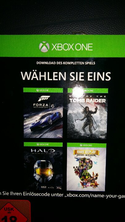 CODE | Forza Motorsport 6 OR OTHER 3 GAMES