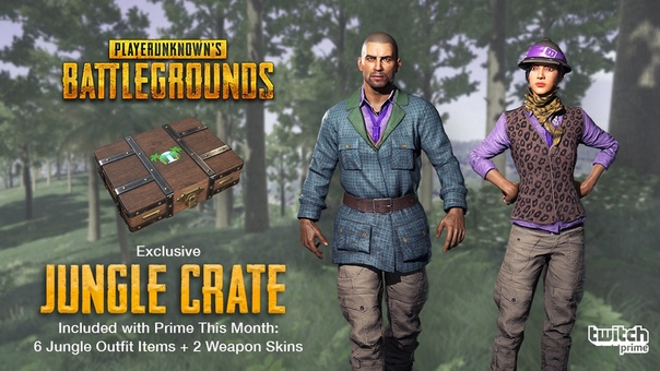 TWITCH PRIME PUBG 3 SETS Crates✅JUNGLE+PILOT+GUNSLINGER