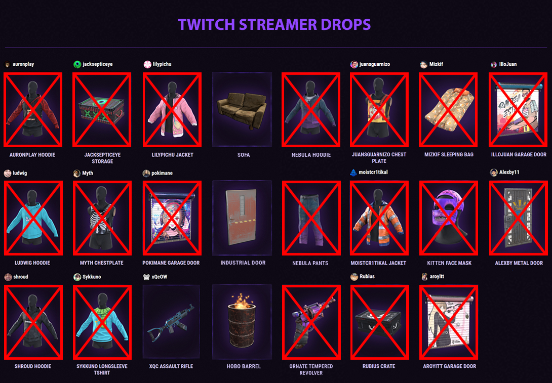 Rust Skins Twitch Drops Xqc Assault Rifle Buy For 1 79