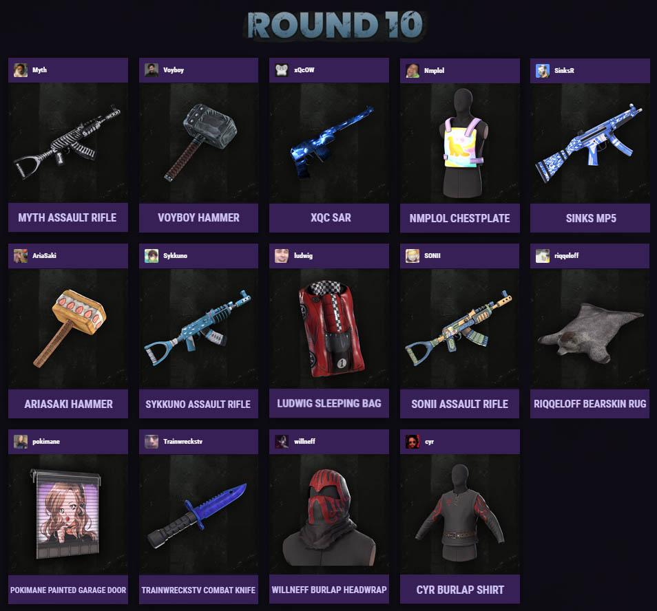 Фотография rust скины 1 twitch drops | round 10 | 14 предметов