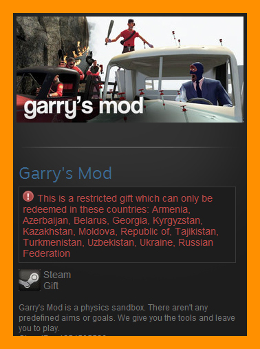 Garry´s Mod (Steam Gift / RU CIS)