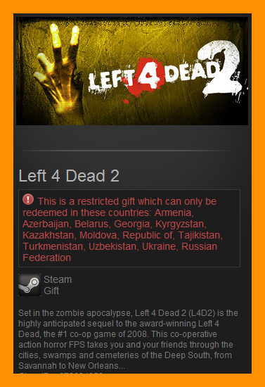 Left 4 Dead 2 (Steam Gift / RU CIS)