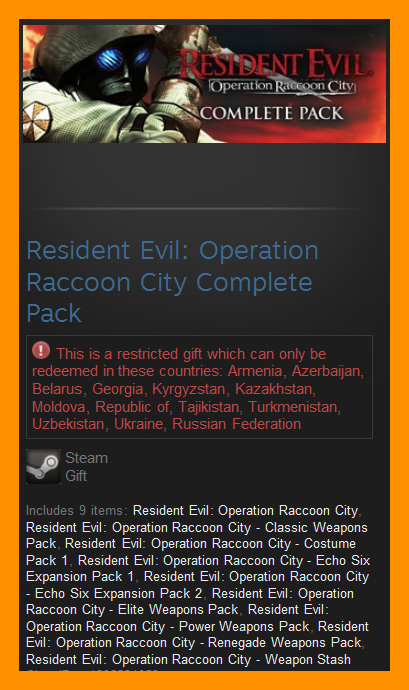 Resident Evil Operation Raccoon City Complete /Steam RU