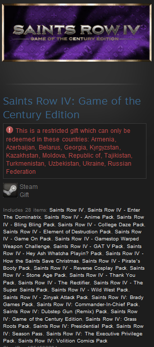Saints Row 4 IV: Game of the Century Edition (Gift /RU)