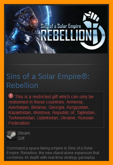 Sins of a Solar Empire: Rebellion (Steam Gift / RU CIS)