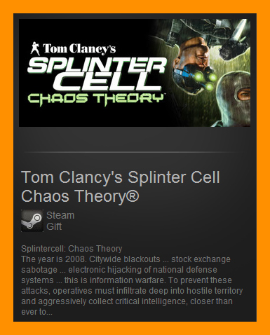 Tom Clancys Splinter Cell Chaos Theory (Steam Gift ROW)