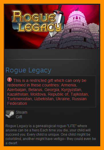 Rogue Legacy (Steam Gift / RU CIS)
