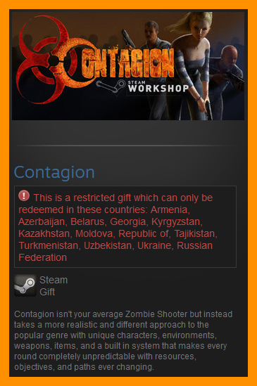 Contagion (Steam Gift / RU CIS)
