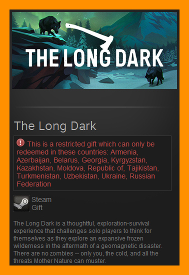The Long Dark (Steam Gift / RU CIS)