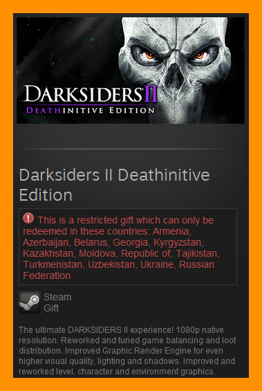 Darksiders II 2 Deathinitive Edition /Steam Gift RU CIS