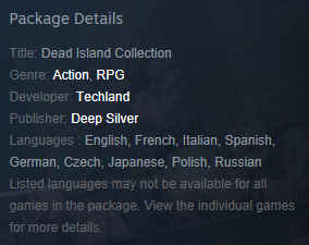 Dead Island Collection Franchise (Steam Gift / RU CIS)